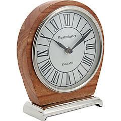 Reloj de mesa 17x15x5 cm blanco