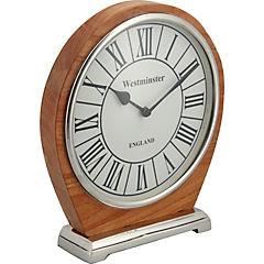 Reloj de mesa 25x23x5 cm blanco