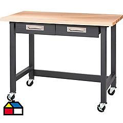 Mesa de trabajo 95x121x61 cm gris