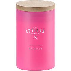 Vela en frasco vainilla rosado
