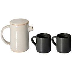 Juego de té 3 piezas blanco