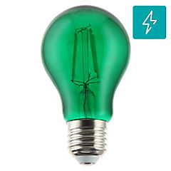 Ampolleta LED decorativa E-27 verde