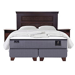 Box Spring King Base Dividida + Muebles New Atlanta