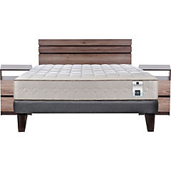 Cama Europea 2 Plazas Base Normal + Muebles Ares