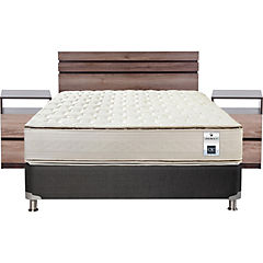 Box Spring 2 Plazas Base Normal + Muebles Ares