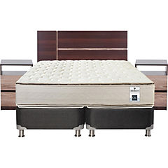 Box Spring King Base Dividida + Muebles Enio