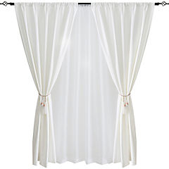 Combo cortina black-out + velo 140x220cm crudo