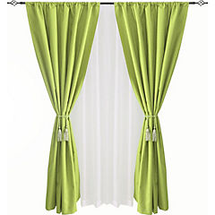 Combo cortina black-out + velo 140x220cm verde