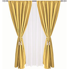 Combo cortina black-out + velo 140x220cm maíz