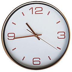 Reloj mural 30,5 cm Cobre
