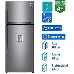 Refrigerador no frost top mount freezer 438 litros gris