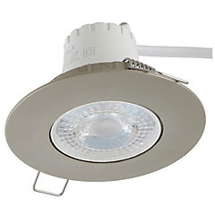 Spot LED empotrado 5,5 W luz cálida Satinado
