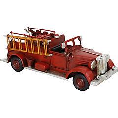 Camión de bomberos decorativo 11x30 cm metal