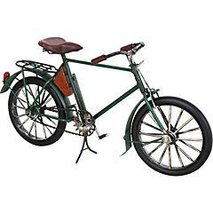 Bicicleta decorativa 15x27 cm metal verde
