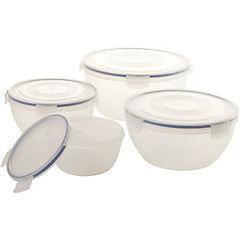 Set de contenedores de alimentos plástico 4 unidades