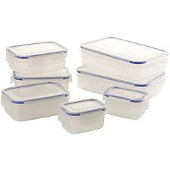 Set de contenedores de alimentos plástico 7 unidades