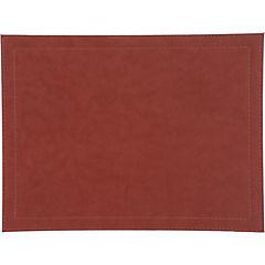 Set de individuales 32x42 cm ecocuero 4 piezas Rojo