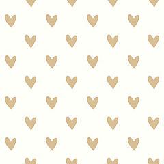 Rollos autoadhesivos Reutilizables corazones dorados 52x503 cm