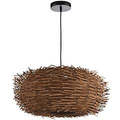 Lámpara colgante natural nido 1 luz
