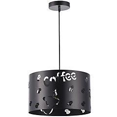 Lámpara de colgar Metal Cocina Trendy Negro