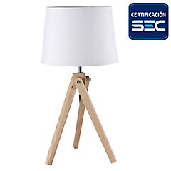 Lámpara de mesa Sivas 1 luz blanco