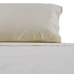 Juego de sábanas 200 hilos Broderie Círculos beige 1,5 plazas
