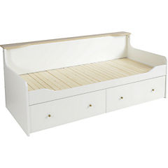 Cama Smart 100x206x83 cm blanca - oak