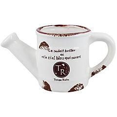 Macetero regadera cerámica 10 cm Crema
