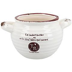 Macetero cerámica 9,5x10,5 cm Crema