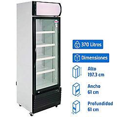 Visi-Cooler 1 puerta 370 litros negro/blanco