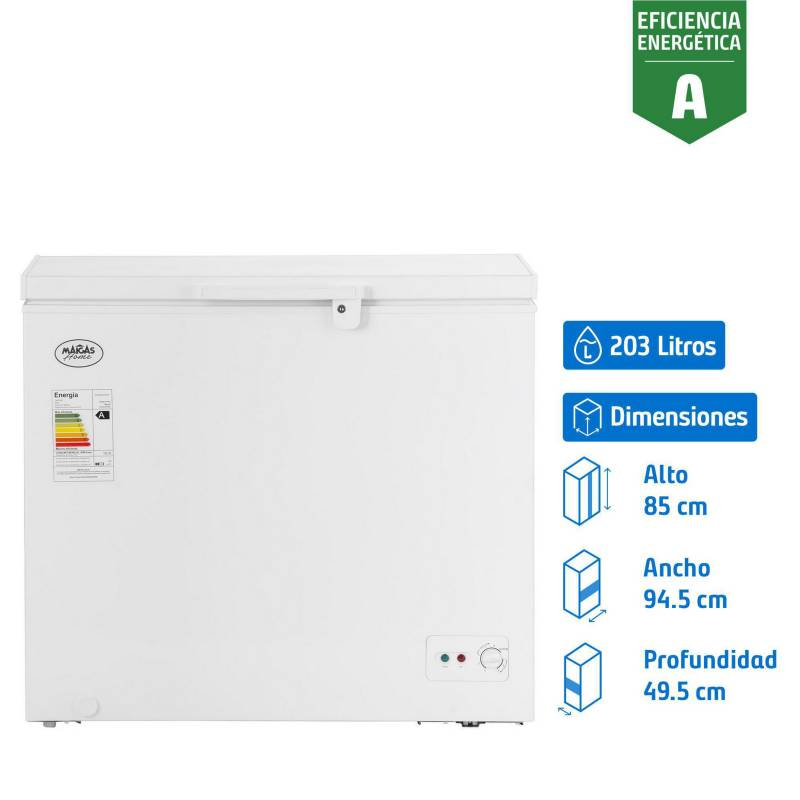 MAIGAS - Congelador industrial horizontal 203 litros blanco