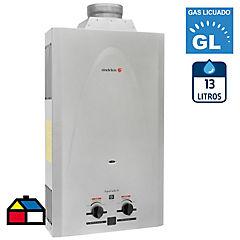 Calefón a gas licuado 13 litros tiro natural