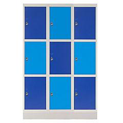 Locker acero 9 puertas con portacandado
