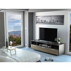 Rack de TV 49,4x130x50 cm wengué