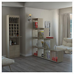 Combo mueble de bar + biblioteca escalera madera Rovere