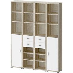 Gabinete 221x170x35 cm oak blanco