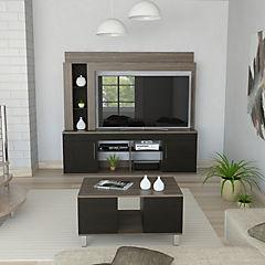 Combo de estante para TV + mesa de centro