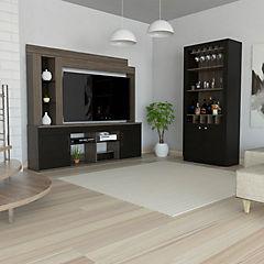 Combo de estante para TV + mueble de bar
