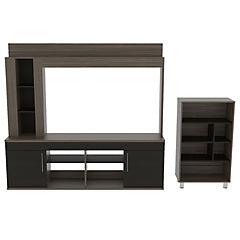 Combo de estante para TV + biblioteca