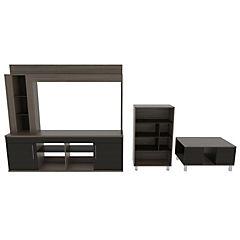 Combo de estante para TV + mesa de centro + biblioteca