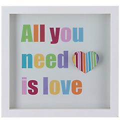 Cuadro Love 30x30x4cm