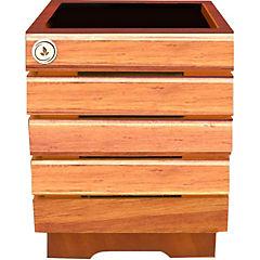 Macetero madera 35 cm Habano