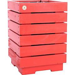 Macetero madera 35x51 cm Rojo
