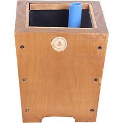 Macetero madera 18 cm habano