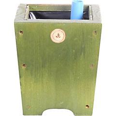 Macetero madera 18 cm verde