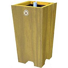 Macetero madera 22 cm verde