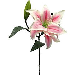 Flor artificial Casablanca rosado 76 cm
