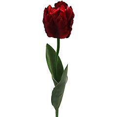 Flor artificial tulipán parrot rojo 66 cm