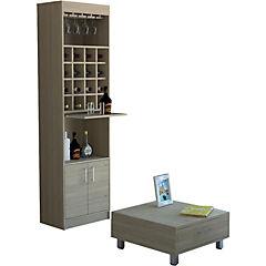Combo bar kava + mesa de centro rovere