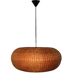 Lámpara de colgar Mimbre Circular II Café